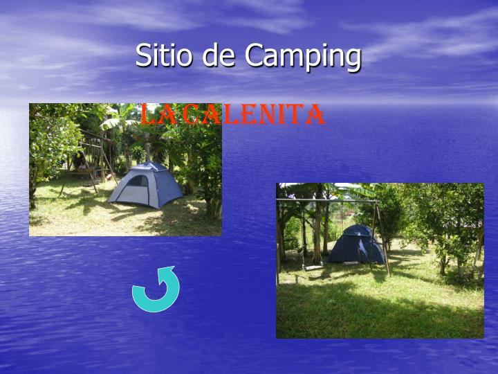 Sitio de Camping