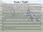 fouls calls