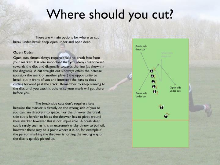 Where should you cut?