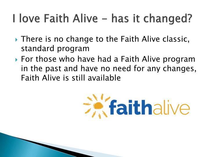 I love Faith Alive - has