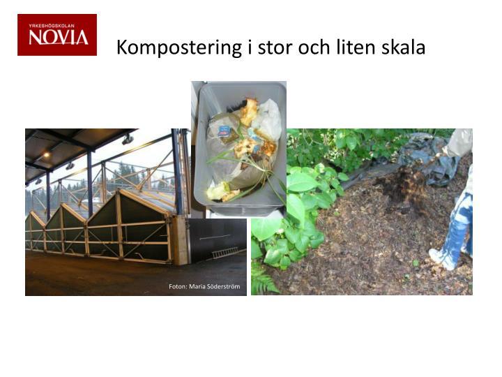 Kompostering i stor och liten skala