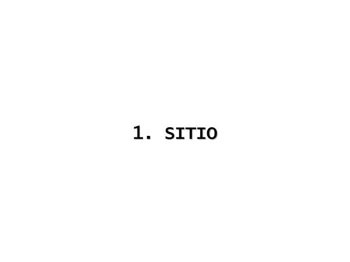 1. SITIO