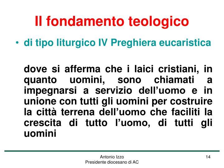 Il fondamento teologico