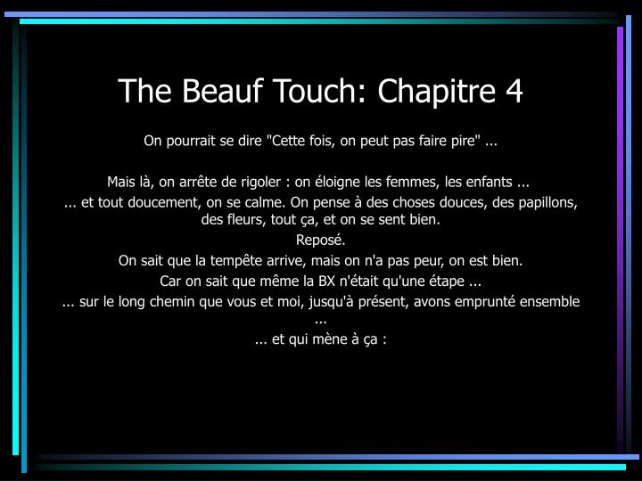 The Beauf Touch: Chapitre 4