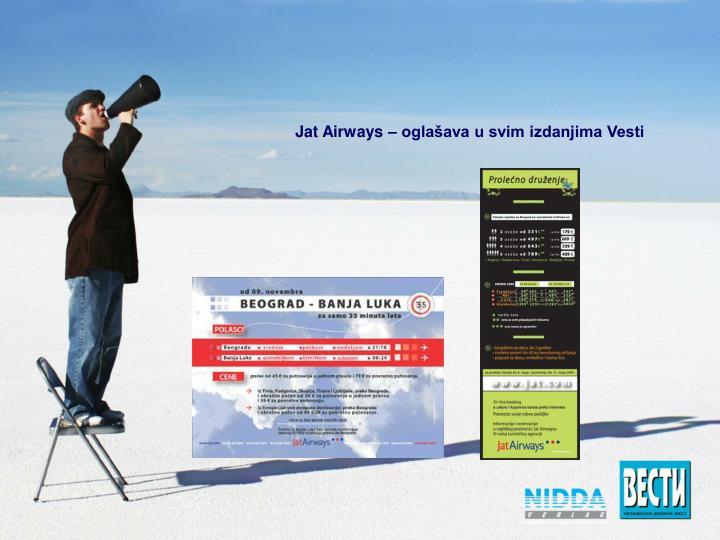 Jat Airways – oglašava u svim izdanjima Vesti