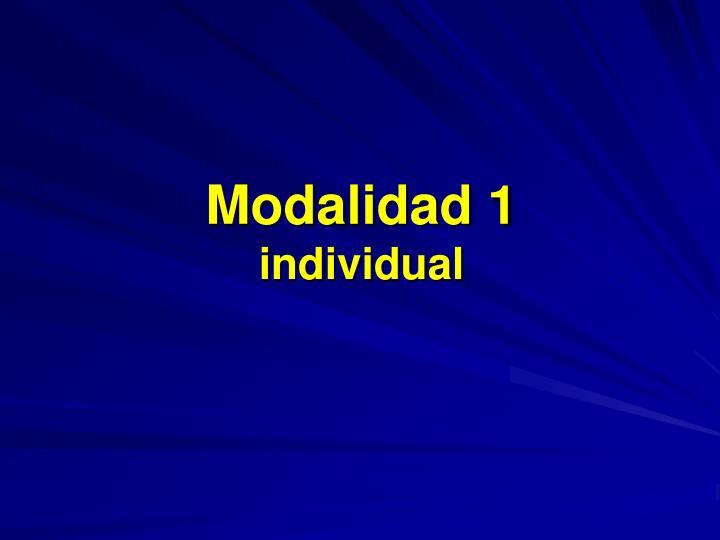 Modalidad 1