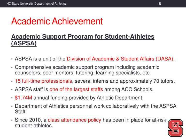 Academic Support Program for Student-Athletes (ASPSA