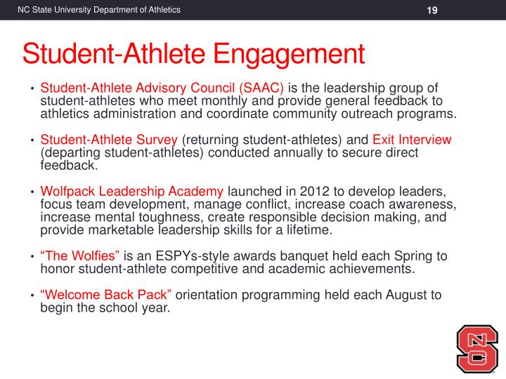 Student-Athlete Advisory Council (SAAC)
