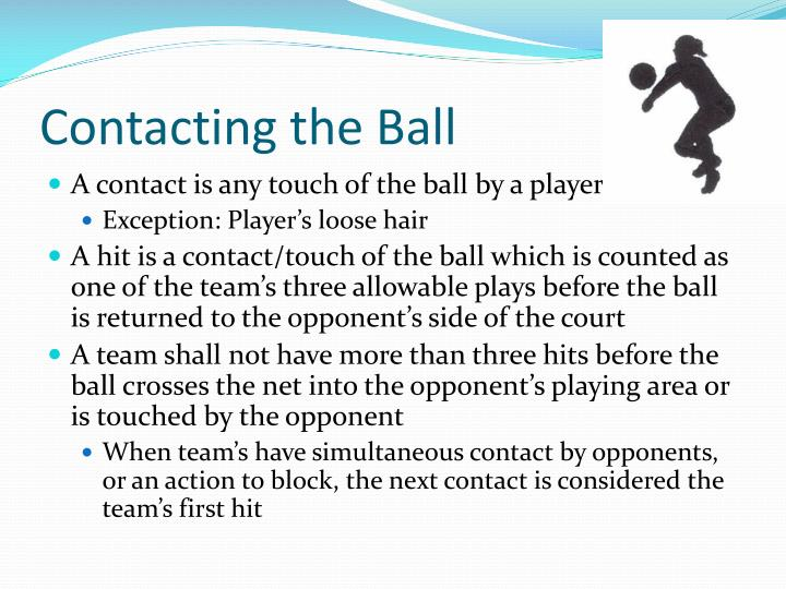 Contacting the Ball