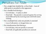 penalties for fouls