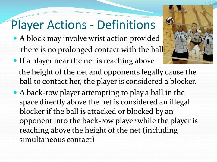 Player Actions - Definitions