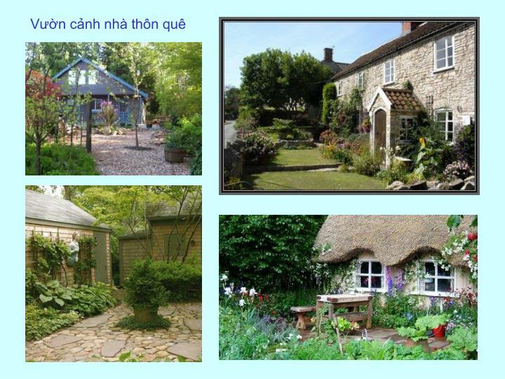 Vườn cảnh nhà thôn quê