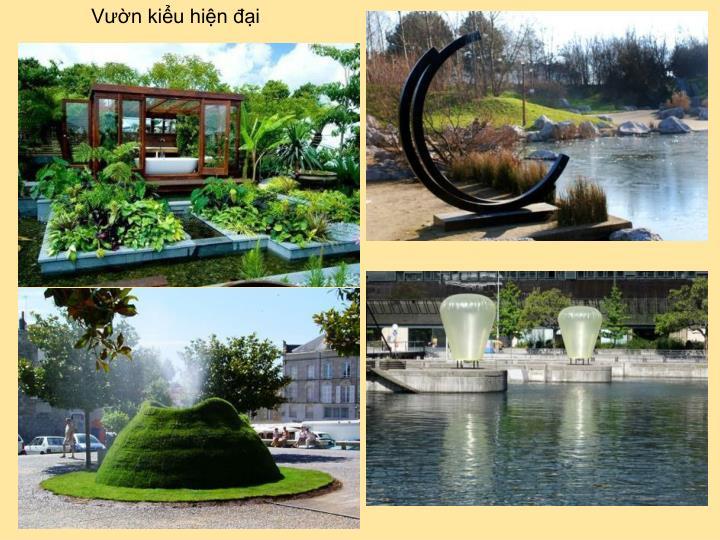 Vườn kiểu hiện đại