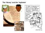 the library and the logframe