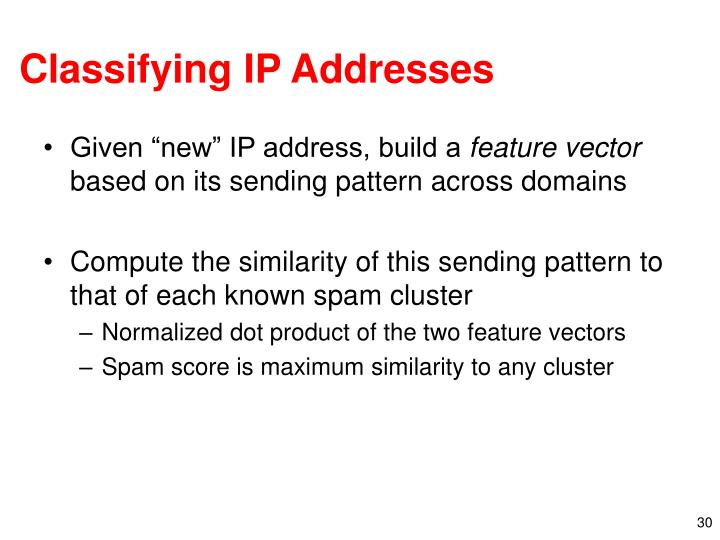 Classifying IP Addresses