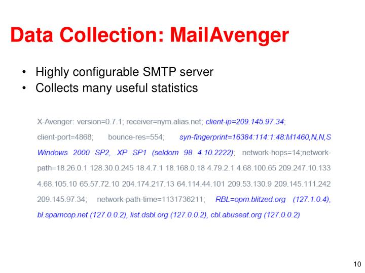Data Collection: MailAvenger