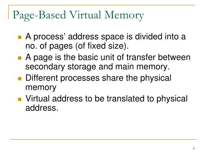 Page-Based Virtual Memory