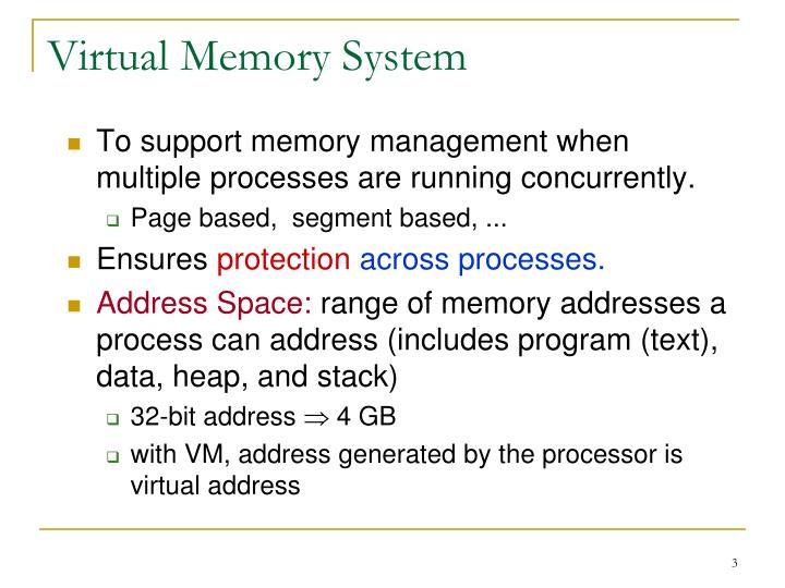 Virtual Memory System
