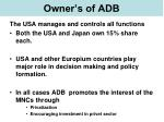 owner s of adb