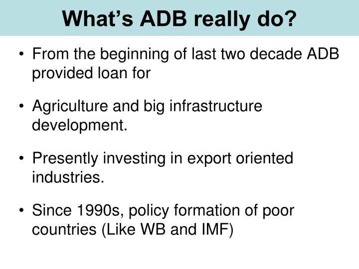 What's ADB really do?