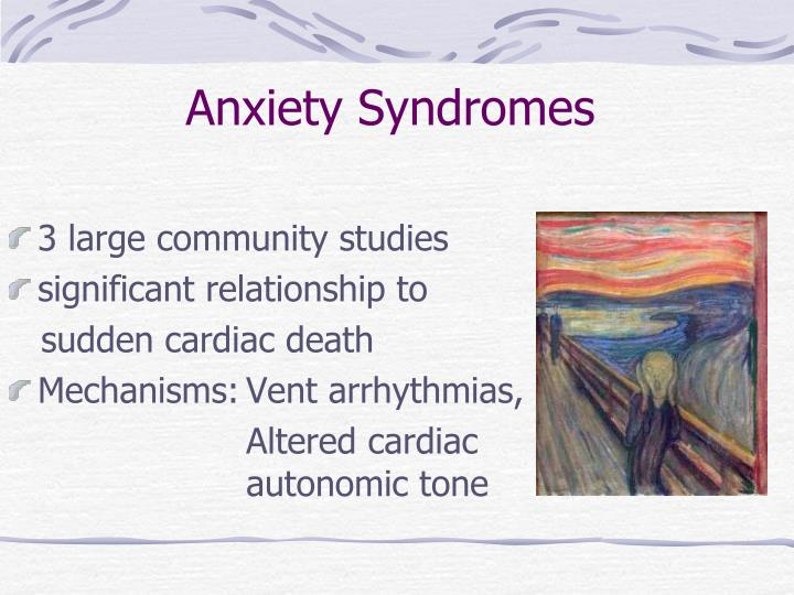 Anxiety Syndromes