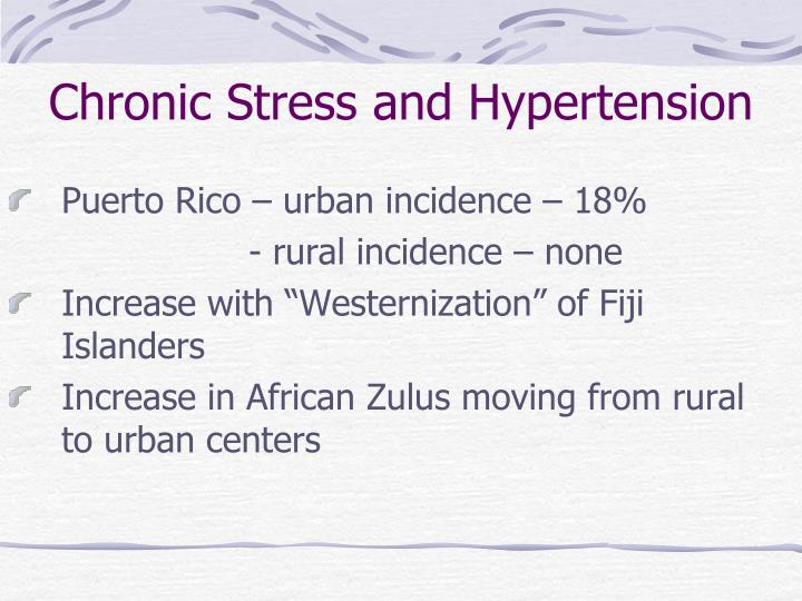 Chronic Stress and Hypertension