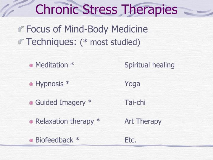 Chronic Stress Therapies