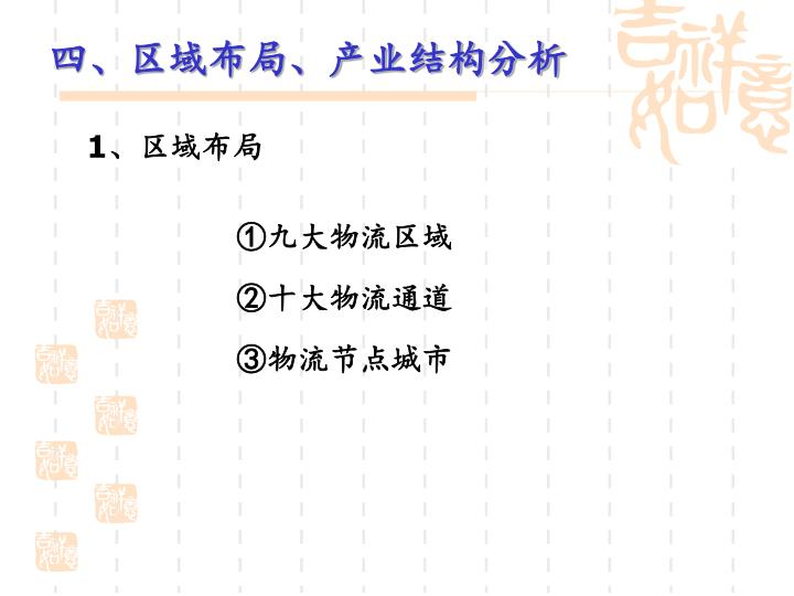 四、区域布局、产业结构分析