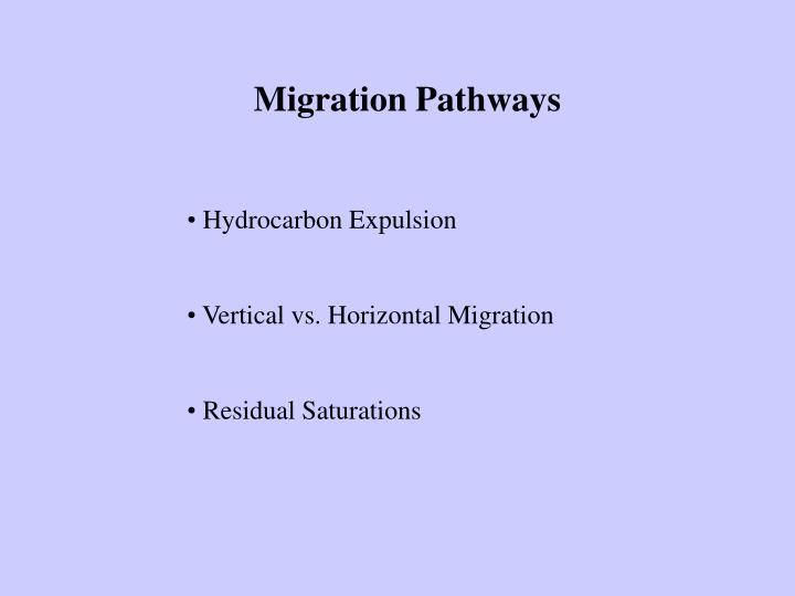 Migration Pathways
