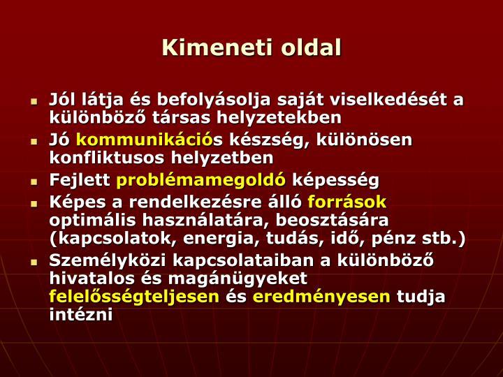 Kimeneti oldal
