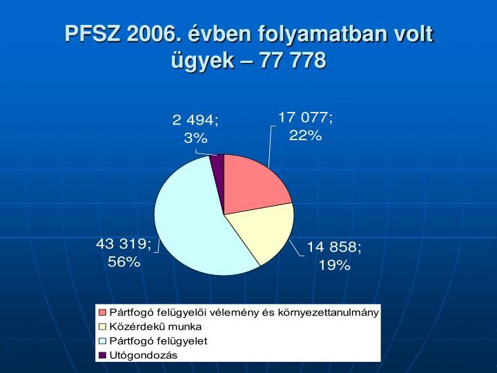 PFSZ 2006. évben folyamatban volt ügyek – 77 778
