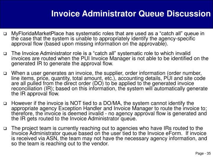 Invoice Administrator Queue Discussion