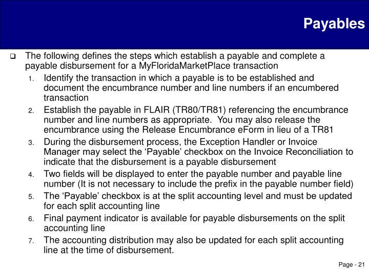 Payables