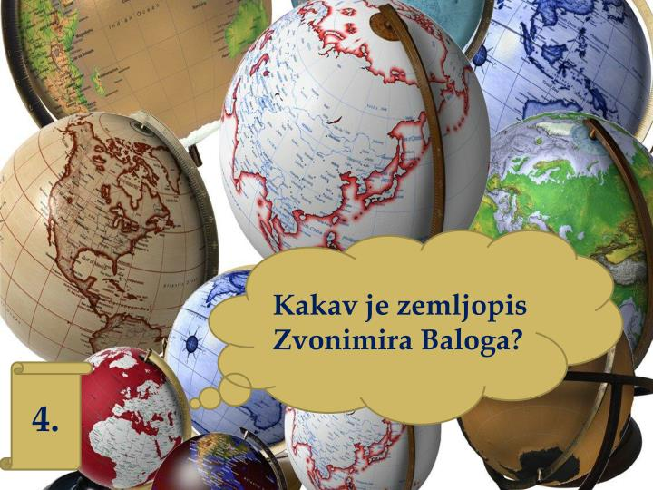 Kakav je zemljopis Zvonimira Baloga?