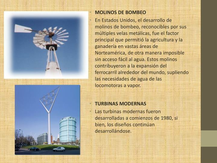 MOLINOS DE BOMBEO