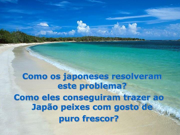 Como os japoneses resolveram este problema?