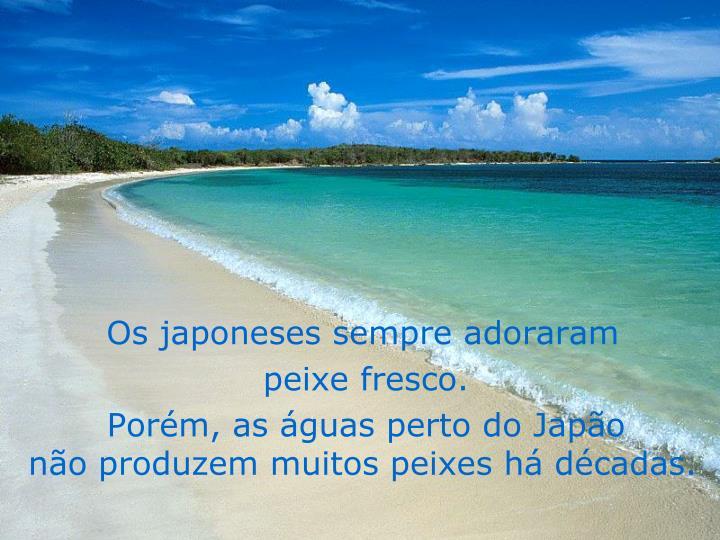 Os japoneses sempre adoraram