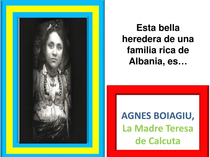 Esta bella heredera de una familia rica de Albania