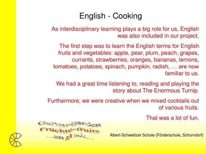 English - Cooking