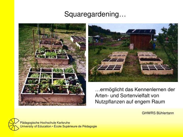 Squaregardening