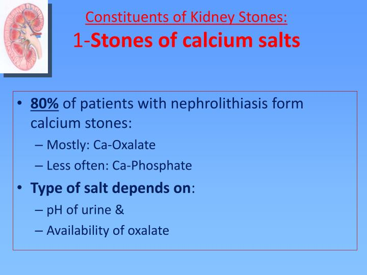 Constituents of Kidney Stones: