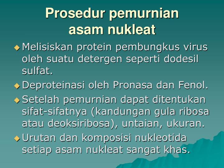 Prosedur pemurnian