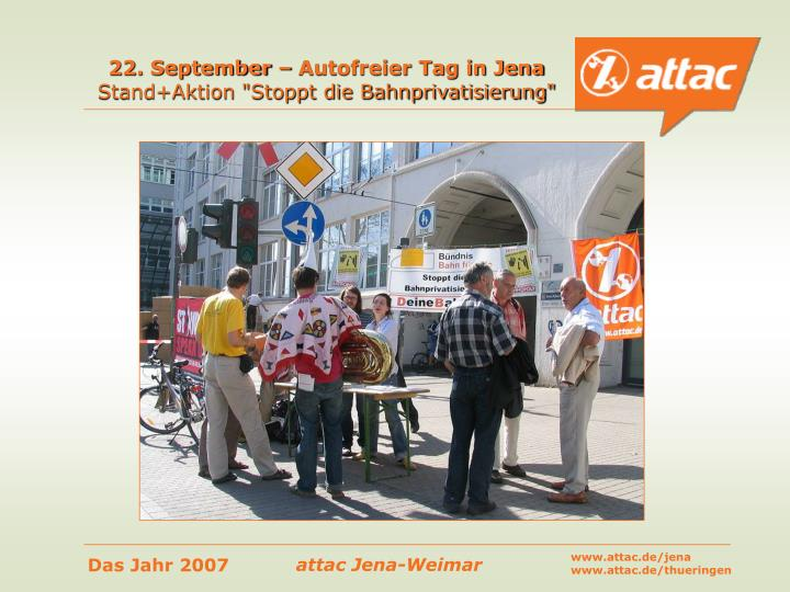 22. September – Autofreier Tag in Jena
