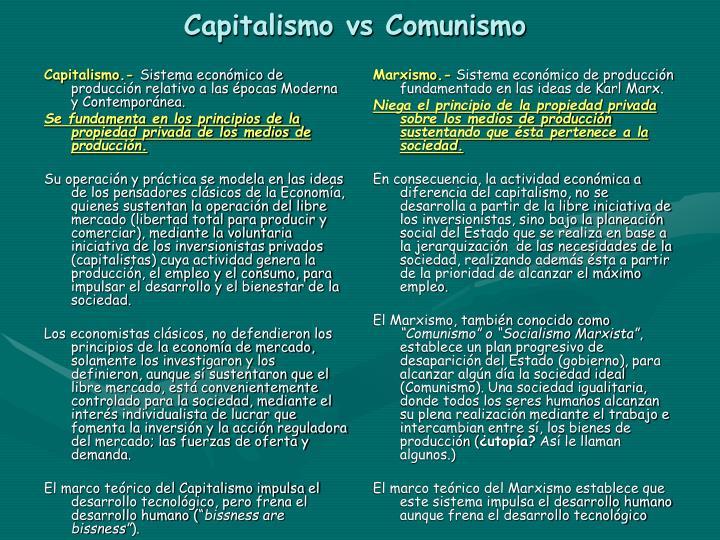 Capitalismo.-