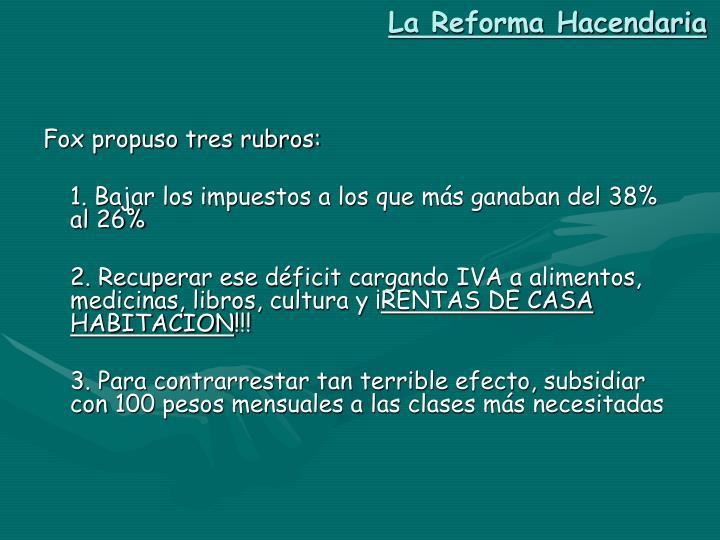 La Reforma Hacendaria