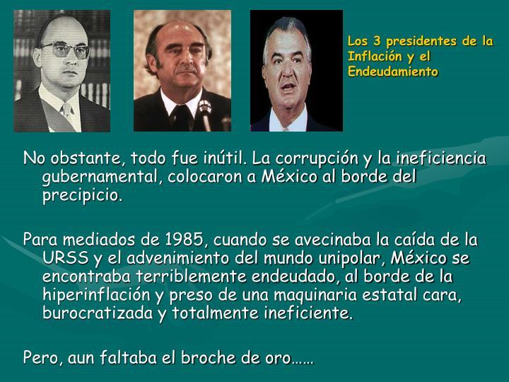 Los 3 presidentes de la Inflación y el Endeudamiento