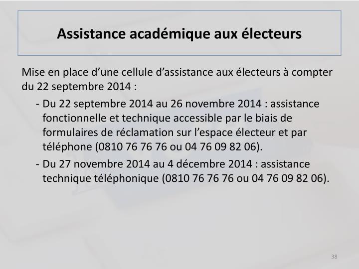 Assistance académique aux électeurs
