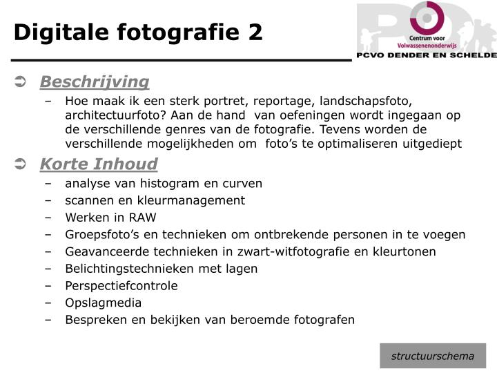 Digitale fotografie 2