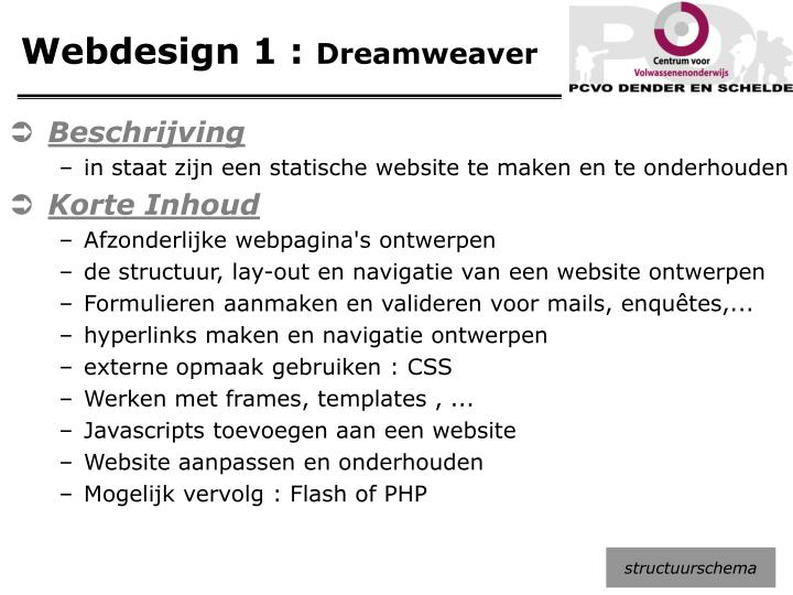 Webdesign 1 :