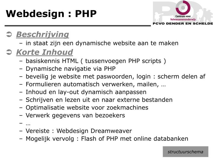 Webdesign : PHP